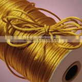 Satin cord Jewelry making supplies-gold yellow color china knot satin cord for jewelry DIY making and craft supplies