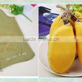 lemon folding tote bag/polyester foldable shopping bag/canvas pouch shopping bag