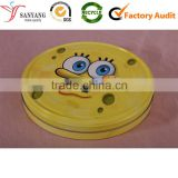 Round small cartoon printing tin canister can box for packaging children snacks candy chocolate cookie biscuit