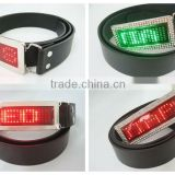 Scrolling Message rechargeable led rhinestone blank wholesale belt buckles in uk