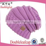 2016 hot selling women winter warm beanie cap quality custom slouch knitted hat                                                                         Quality Choice