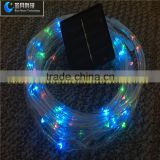 LED copper wire multi color solar powered energy saving transparent tube Christmas street light decoration