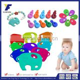 animal shape baby silicone elephant teether
