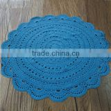 Popular blue color round shape Baby Room chunky knit blanket