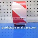 Red white PE warning barrier tape without glue
