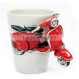 unique design mug 3D motorbike design ceramic                                                                         Quality Choice