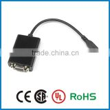 2015 newest factory wholesale High quality micro hdmi to vga converter cable male to male adapter cable