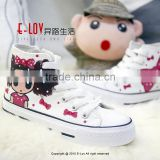 NO.Z021 Fashion design manufacturer Hot sales cheap new style wholesale kids white canvas shoes