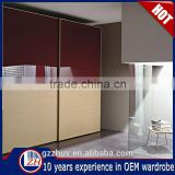 Home bedroom furniture wooden wardrobe designs modern cabinet closet painted glass wardrobe sliding door