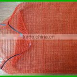 raschel net sack/hot sale 50x80cm red Hdpe onions mesh bag