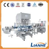 automatic linear liquid filling machine/ servo motor control piston piston filling machine