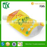 Laminated foil spout detergent powder bag for packing 250 500 1000 gr