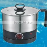 Multifunction electric water/hotpot/noodle kettle multifunction electric pot with good stainless steel 304