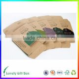 custom decorative fashionable square gift box with clear lid for soap