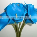 Royal blue calla lily bouquet decorative flowers for wedding