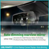 Hot seller wholesale factory auto-dimming rearview mirror 4.3inch monitor with rear camera Av-in special