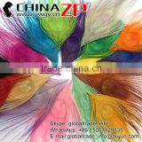 CHINAZP Factory Bulk Sale Top Selling Colored Mix Colors Trimmed Short Peacock Feathers for Clothes Accessories