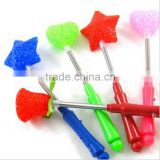 Hot sale all kinds of LED light flashing sticks for concert, five star and heart shaped glow sticks