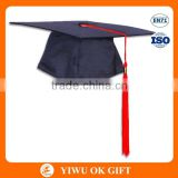 Promotional Adult Baccalaureate Black Graduation Cap With Red Tassel