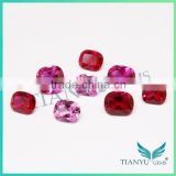 2015 wuzhou gemstone free samples natrual stone different shape synthetic ruby stone prices