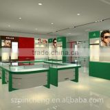 electronic eyewear shop counter and optional display showcase kiosk for sunglasses display