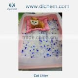 crystal silica gel kitty litter with different color