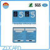 Customed Printing Lottery Scratch Paper Card