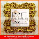 Baroque Style Antique Fram Switch Surround Sticker