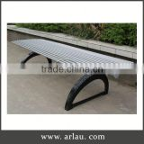 Arlau Cheap Wholesale Garden Dining Furniture,Park Cast Iron Bench Leg,Park Benches With Steel Frame