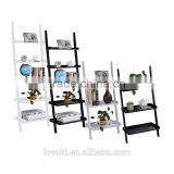3&5 Tier Wooden Wall Rack Leaning Ladder Shelf Unit Bookcase Display