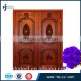 Foshan leffeck front door classic main teak wood carving doors A-009