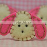 hot selling eco friendly new products promotional gift cute felt scrapbooking textile fabric rabbit on alibaba express