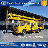Hydraulic lifting 2 3 section boom 360 Degree Rotating aerial platform operation truck for sale