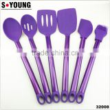 32008 New coated colorful stainless steel tube silicone Kitchen Utensils