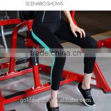 top quality active work out yoga wear&fittness ladies capri trousers, fitness clothes, activewear