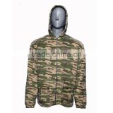 wholesale clothing soft polar fleece military men' s camo hunting winter jacket with hoodie