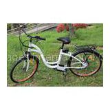 Folding Steel Saddle commuter electric bike , Shimano 7 - speed Tourney electric assist bicycle
