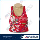 comfortable beautiful ladies bra cheap sublimation cheerleading bra professional bra set manufacturer