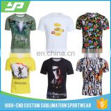 Factory Fashionable O Neck Short Sleeves Men 100% Cotton Material Custom T Shirt Printing