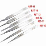 6 Kinds Stainless Steel Tweezers Anti-Static Tweezers Elbow Fine Tip