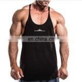 thinner stripes Stringer Vests/ Gold gym singlet -Custom Printed Gym Singlets, Cotton gym singlet, T Back singlet