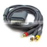 6FT Gray RCA Audio Video AV Cable for Xbox 360