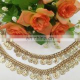 INquiry about hot sell coin metal chain trimming sew on clothing bags or shoes garment accessories