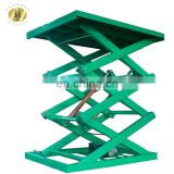 7LSJG Jinan SevenLift 1m 3000 kg fixed manual mini scissor cargo used truck work platform elevator lift