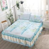 3pcs summer cool bed mat lace bed skirt bed sheet cool bed mats quality bed cover machine washable