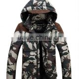 High Quality Soft Men Fashion Camo Down Jacket for Man
