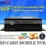 WiFi 3G Mobile DVR, H.264 4CH HD Car dvr ,Real time ,GPS Track ,I/O,G-sensor,MDVR,support iPhone ,Android Phone