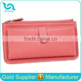 Stock Wholesale 11 Candy Colors Available PU Leather Hasp Women Lady Female PU Wallet Can Hold 11 Card