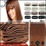 Customized Full Head Clip In Hair Extensions Free Sample, Cheap 100% Human Hair Clip In Hair Extension