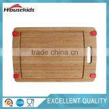Nonslip Bamboo Cutting Board;Wooden kitchen chopping block with handle